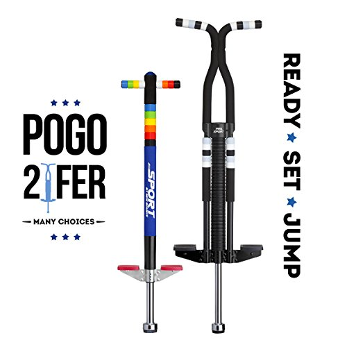 New Bounce Easy Grip Silicone Ring Sport Pogo Stick (One of two is Pro) by New Bounce