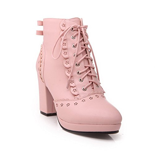 WeenF (Lace Up Pink Boots)