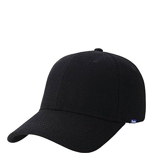 Keds Women's Wool Baseball Cap, Black, One Size