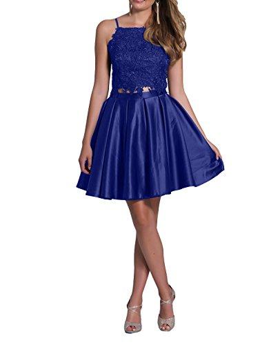 mia Brau Spitze Partykleider A Abendkleider Festlichkleider La Royal Satin Rock Kurzes Mini Promkleider Cocktailkleider Blau Linie TdAwq1