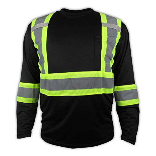 Black High Visibility Safety Shirt/Class 3 - Level 2 ()