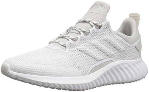 adidas Men's Alphabounce CR CC Running Shoe, white/grey/chalk pearl, 6.5 M US