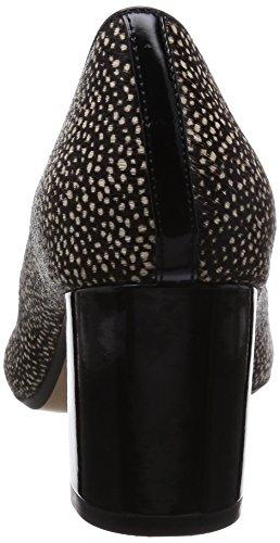 Negro Cordones Negro de para Piel Clarks de Zapatos Cloud Blissful Mujer zqvISga