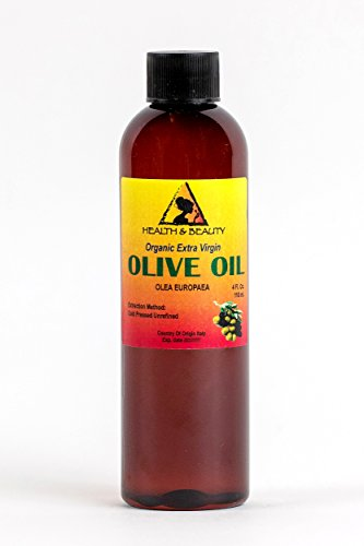 Olive Oil Extra Virgin Organic Unrefined Raw Cold Pressed Premium Fresh Pure 4 oz