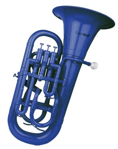 Cool Wind CEU-200 Series 4-Valve Plastic Euphonium Blue by Cool Wind
