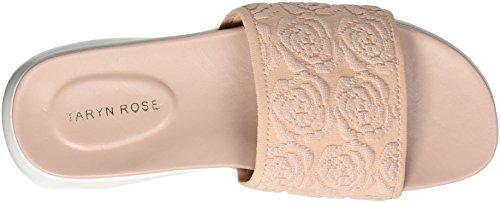 Taryn Rose Mujeres Iris Knit Slide Sandal Blush