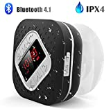 Best Shower Radios - Waterproof Bluetooth Shower Speaker Radio with LED Screen Review