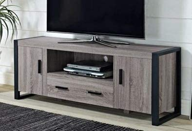 Amazon Com Tv Stand For 65 Inch Tv Driftwood Wood With Cabinet