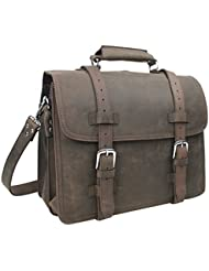 Vagabond Traveler 17 Heavy Duty Sport Briefcase & Book Backpack. Heavy 8.8LB L70. Coffee Brown.