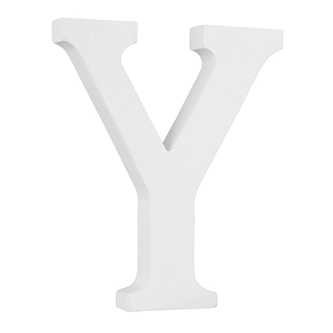 Ysoom Letras de Madera, Color Blanco, artesanía, Madera, Cartas, Novia, Boda, Fiesta, cumpleaños, Juguete, decoración del hogar, Altura: 15 cm