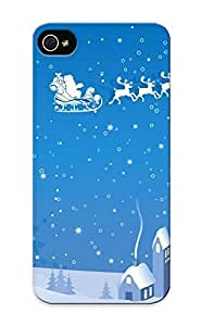 Durable Protector Case Cover With Christmas Hot Design For Iphone 5/5s (ideal Gift For Lovers)