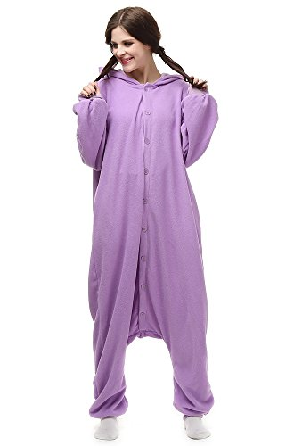 Laidisi Unisex Adult Halloween Costumes Hooded Cosplay Pyjama Jumpsuit Purple Espeon X-Large