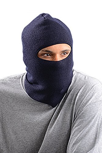 Stay Warm - Lined, Insulated Face Mask - Navy - Made in the USA - 6-PACK