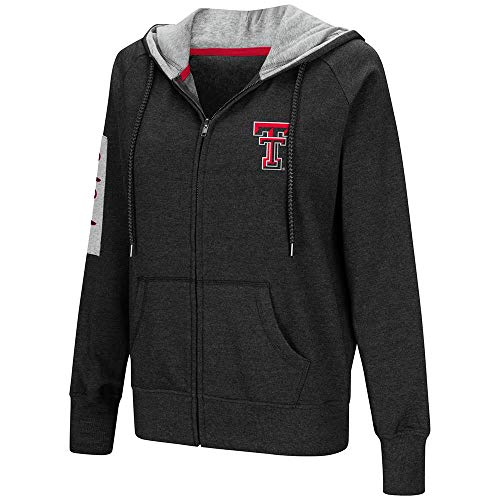 Colosseum Womens Texas Tech Red Raiders Full-Zip Hoodie - ()