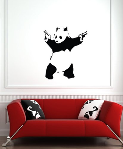The Shooting Panda   Wall Vinyl Decal