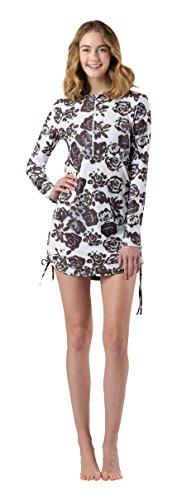 Mott50 Sonja Athletic Dress, Black & White Woodcut Succulent, Medium