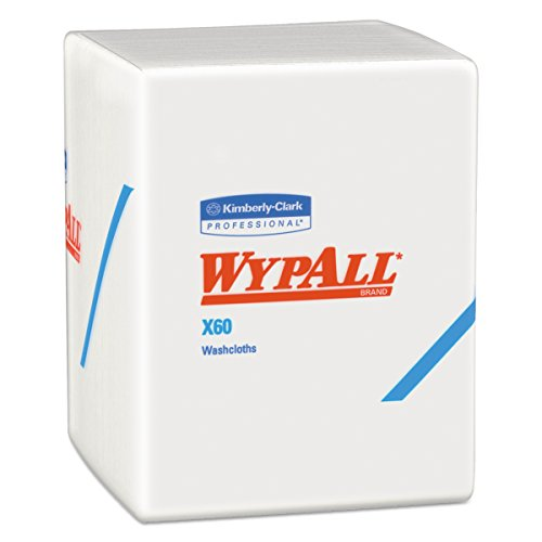 (WypAll 41083 X60 Cloths, 1/4 Fold, 12 1/2 x 10, White, 70 per Pack (Case of 8)