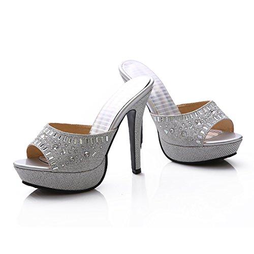 UH sulla Aperte Caviglia Donna Argento x4xrqTPd5w