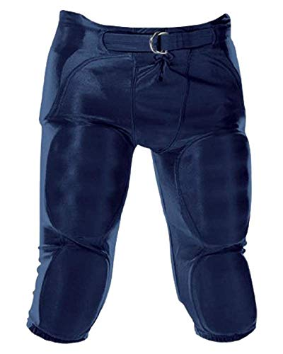 Alleson Athletic Youth Solo Series Integrated Football Pant, Navy, X-Small