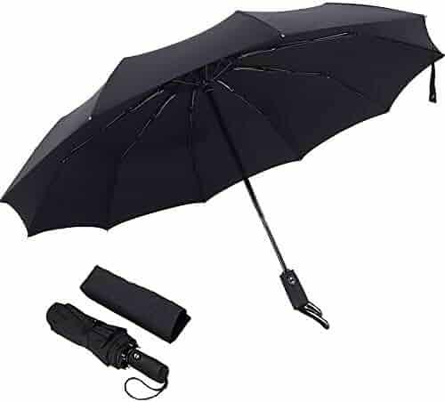 Xiuying Feng Travel Compact Umbrella Windproof Sun /& Rain Umbrella Ultra Light Parasol Fits Men /& Women Gift Choice Black-01