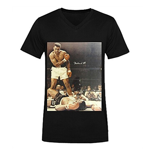 Muhammad Ali Showing The World T-shirt For Men V Neck Black