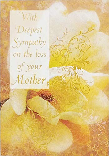 - With Deepest Sympathy on the Loss of Your Mother Greeting Card -