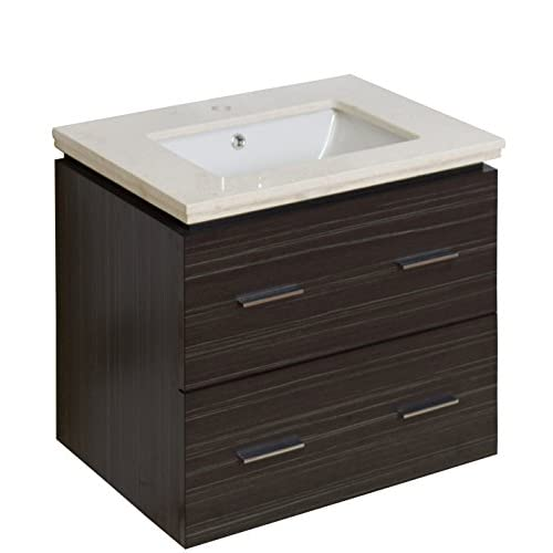 "Jade Bath JB-8389 24"" W x 18"" D Plywood-Melamine Vanity Set with Single Hole CUPC Faucet, Dawn Grey durable modeling"