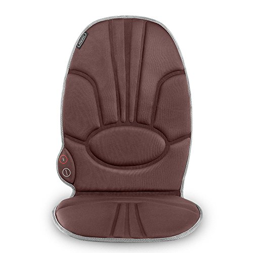 Portable Back Massage Cushion | Heated Vibrating Pad, Multi-Speed, Soft Fabric | Back, Lumbar & Shoulder Kneading, Includes Adapters for Home & Car, Compact & Lightweight for Travel | HoMedics (Back Massager For Chair Homedics)