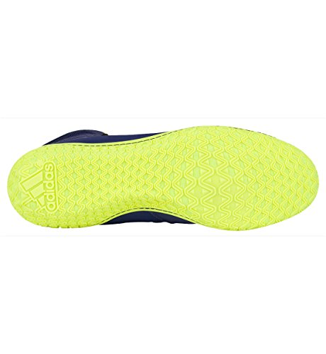 Assistant Mat Adidas Wrestling Chaussures Navy / argent / vert lime Taille 5.5