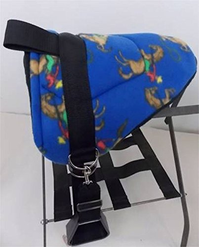 - MINIATURE HORSE / SM PONY BAREBACK SADDLE PAD - BLUE COWBOY RODEO PRINT