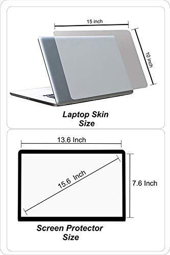 Fedus Transparent Laptop Skin,Keyboard Skin, Screen Guard,Laptop Accessories Combo for 15.6 inch Laptop