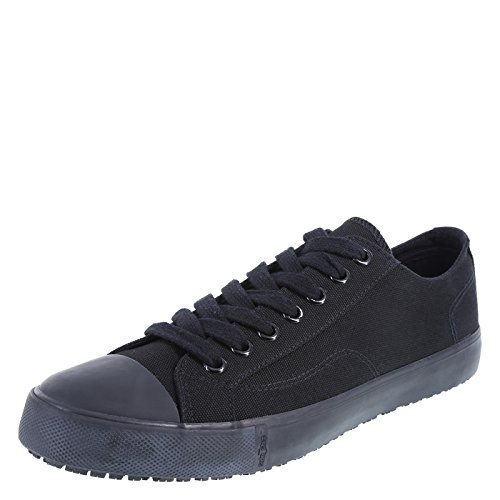 safeTstep Men's Black Canvas Slip Resistant Kick 10.5 Regular