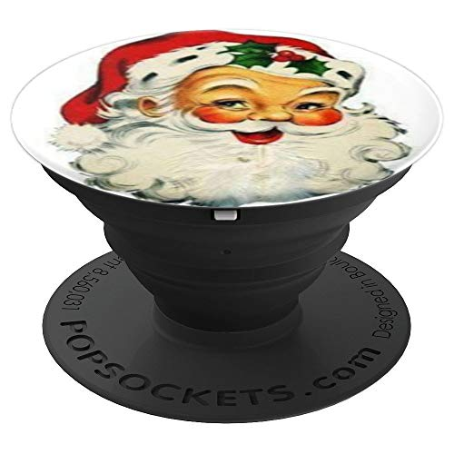- Vintage Santa Claus Face - PopSockets Grip and Stand for Phones and Tablets