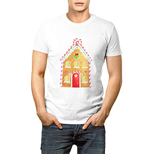 Gingerbread House Decorated Candy Icing and Sugar Christmas Men's Short Sleeve T-Shirt -