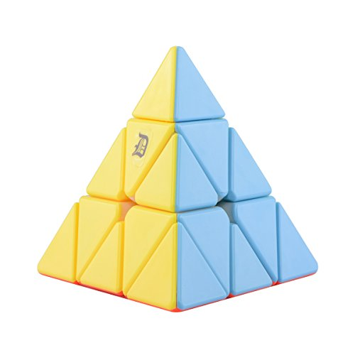 Magic Triangle Cube - D-FantiX Stickerless Pyraminx 3x3 Speed Cube Triangle Magic Cube Puzzle Christmas Toys Gifts for Kids