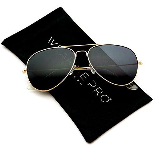 WearMe Gafas Dorada modernas lente prémium de clásicas nbsp;estilo sol Pro de y aviador polarizada diseño con Montura 55qar