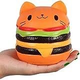 "Kutzi Mutzi 4.5"" Jumbo Squishy Kawaii CatBurger Cream Scented Squishies Slow Rising Decompression Squishy Toys Children Simulation Cute CatBurger Toys (Cat Hamburger) 1pcs"
