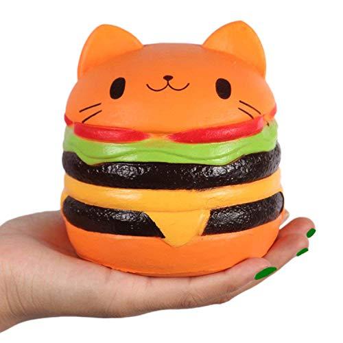 Kutzi Mutzi 4.5 Jumbo Squishy Kawaii CatBurger Cream Scented Squishies Slow Rising Decompression Squishy Toys Children Simulation Cute CatBurger Toys (Cat Hamburger) 1pcs
