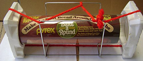 (Pyrex Bake-A-Round Bread Loaf Mold Baking Tube - 14 inches x 3 1/2 inches in diameter - Includes rack stand)