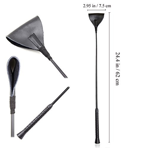 Bat Leather Jump (Intimate Lover Horse Riding Crop Leather Jump Bat Bull Whip (Style B))