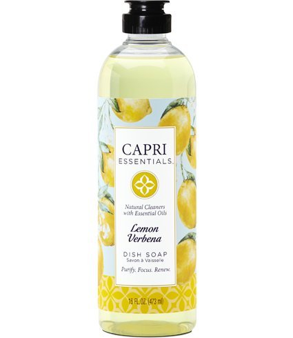 Capri Essentials 832046 16 Oz Lemon Verbena Dish Soap