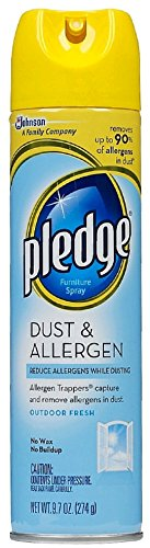 Pledge Dust & Allergen Furniture Spray, Outdoor Fresh 9.70 oz (Pack of 6) - Pledge Dust