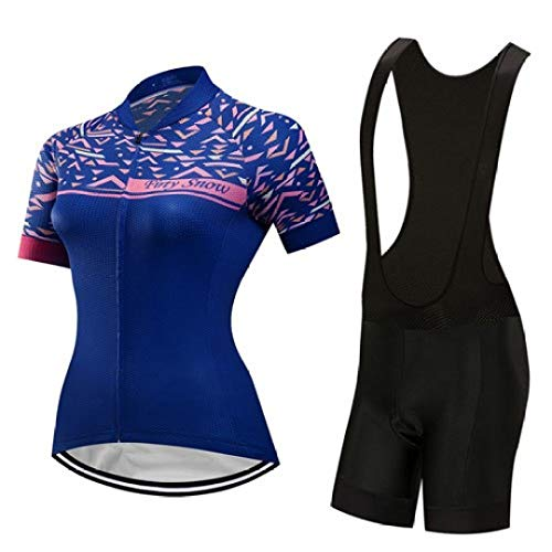 Women Summer Cycling Jersey Set Full Zip Bicycle Clothing Sport Outfit wear