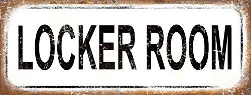 Locker Room Metal Sign, Gym, Rustic, Vintage -