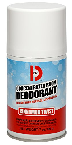 Big D 469 Concentrated Room Deodorant for Metered Aerosol Dispensers, Cinnamon Twist Fragrance, 7 oz (Pack of 12) - Air freshener ideal for restrooms, offices, schools, restaurants, (Aerosol Room Deodorant)