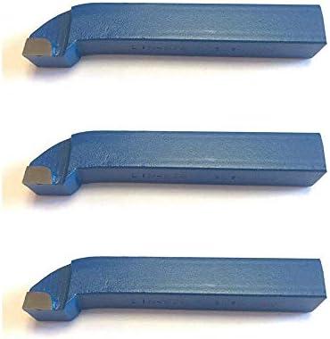 [Gesponsert]3 Stück Drehstahl 10 x 10 mm - Eck Drehmeißel mit Hartmetall - Qualität für Stahl - DIN4978