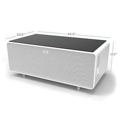 Sobro Soctb300whbk Coffee Table With Refrigerator Drawer