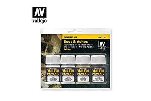 Vallejo Soot & Ashes Pigment Set 4 x 35ml Paint