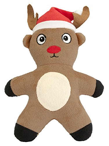 Pet Brands Christmas Reindeer Plush Toy with Replaceable Squeaker Dog Toy
