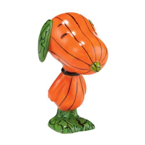 Pumpkin Figurines Halloween - Department 56 Peanuts Halloween Hound Figurine, 3 inch